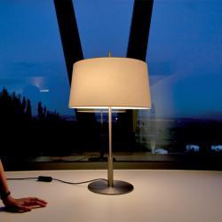 pantalla lino natural para Sobremesa/pie Diana
