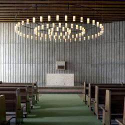 Cirio circular S (Solo Structure) Lamp Pendant Lamp circular 130cm 12 lights - Metálico Black