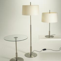 Diana (Solo Structure) Table Lamp 25x78cm E27 2x20w - Nickel Satin