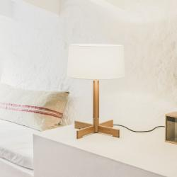 Fad (Solo Structure) Table Lamp with dimmer E27 100W - Wood oak natural