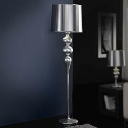 Lena lámpara of Floor Lamp 1L Silver
