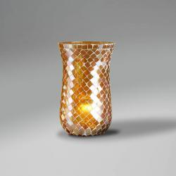 Lluvia Pendant Lamp 3L polished gold + lampshade Copper thin