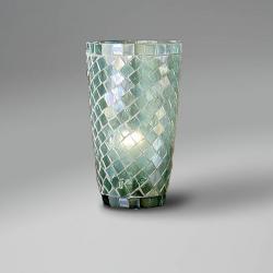 lampshade mosaic conical Aqua
