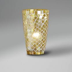 Accessoire abat-jour mosaïque conique Jaune