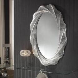 Gaudi espelho oval 125x84cm - Folha de prata