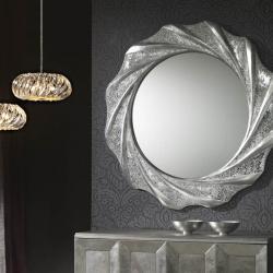 Gaudi specchio Rotonda 97x97cm - Foglia di argento