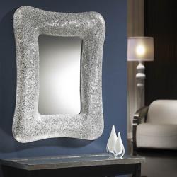 Gaudi rectangular mirror mosaic Silver
