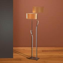 Onna lámpara of Floor Lamp 2L oxide forge/bright chrome