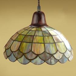 Lluvia Pendant Lamp 1L oxide forge + lampshade Tiffany DS.25cm