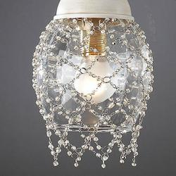 Lluvia Pendant Lamp 3L oxide forge + lampshade net smooth balls white
