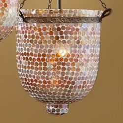 Accessoire abat-jour mosaïque Verre orange Topos Grand