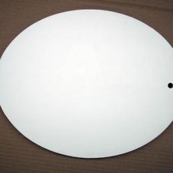 lid oval white melamina