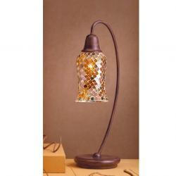 Lluvia Table Lamp 1L oxide forge + lampshade Copper Delgada