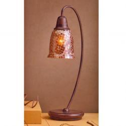 Lluvia Table Lamp 1L oxide forge + lampshade dome mosaic orange