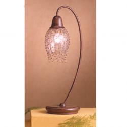 Lluvia Table Lamp 1L oxide forge + lampshade net trinkets Golden