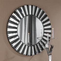 Alberta espejo Redondo ø80 Cristal negro biselado