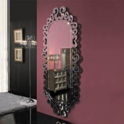 Sorrento espelho Madeira Preto