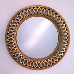 Classic espelho Rodada Calado Folha de prata/Oro