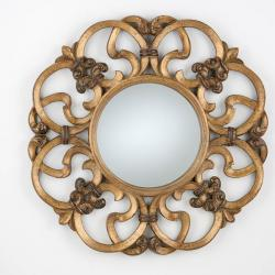 Classic espejo Redondo Pan de Oro