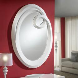 Ronda mirror Large white
