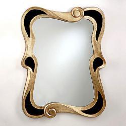 miroir Modernista Noir/Argent