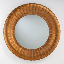 miroir Ronde Feuille d´or