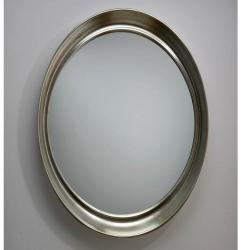 miroir ovale Feuille d´argent