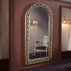 miroir Vertical Cadre Tallado Feuille d´or