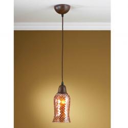 Lluvia Pendant Lamp 1L oxide forge + lampshade Copper thin