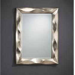 Alboran espejo rectangular marco Volumetrico Pan de Plata Envejecida 116x86cm