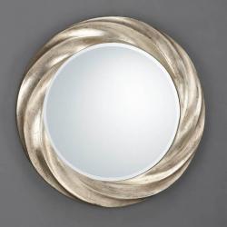 Rodas mirror Round Helicoidal ø76 Silver aged