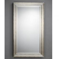 Lineal mirror rectangular 90x160cm step molding Silver Leaf