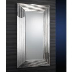 miroir Moldura Estriada Feuille d´argent âgé