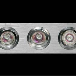 Luxor Empotrable Regleta 3L Aluminio