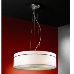 Ibis Pendant Lamp 3L Chrome + lampshade fabric white