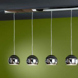 Calipso Lámpara Colgante 4L Cromo brillo