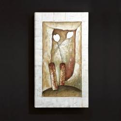 Oleo vase Abstrato 2 Flores