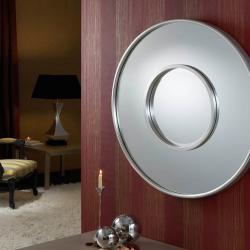 miroir Ronde Double Feuille d´argent