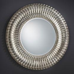 espejo Radial Redondo Plata