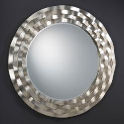 Ondas mirror Round Framework waves Silver Leaf