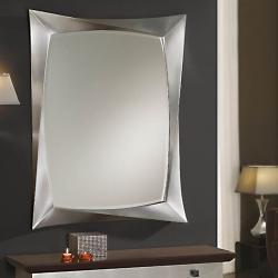 Deco espejo rectangular 85x112x5cm Pan de Plata Envejecida