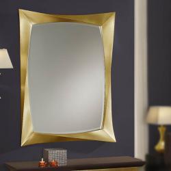 miroir rectangulaire Feuille d´or âgé