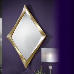 miroir Rombo Feuille d´or