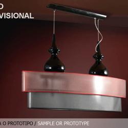 Sophia Lámpara Colgante 4L negro + pantalla Ovalada regulable MU (Tara exposición)