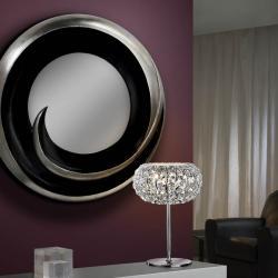 Vento mirror Silver Leaf/Black