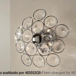 Luppo Wall lamp/ceiling lamp 5L G9 Chrome Glass facetado