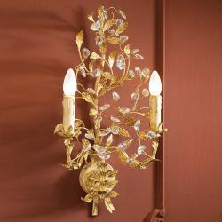 Verdi Wall Lamp Florentino 2L E14 LED 4W without lampshade Ivory Gold
