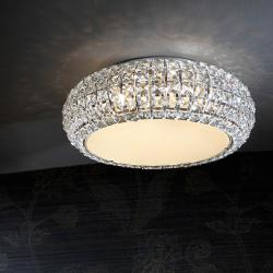 Diamond ceiling lamp pequeño 6 G9 LED 4W Chrome/Copens Glass