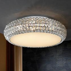 Diamond large ceiling 9 G9 LED 4W Chrome/Copens Glass