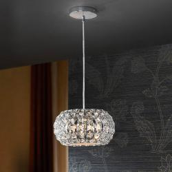 Diamond Pendant Lamp Small 3 G9 LED 4WChrome/Copens Glass